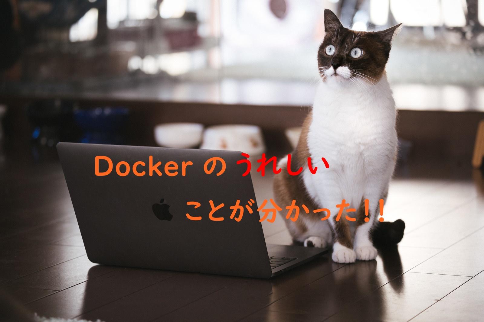 初心者でもDockerのうれしいことが分かってしまう!!