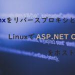 NginxをリバースプロキシとしたLinuxでASP.NET Coreをホストする