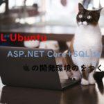 WSL UbuntuでASP.NET Core+SQLiteの開発環境のをつくる